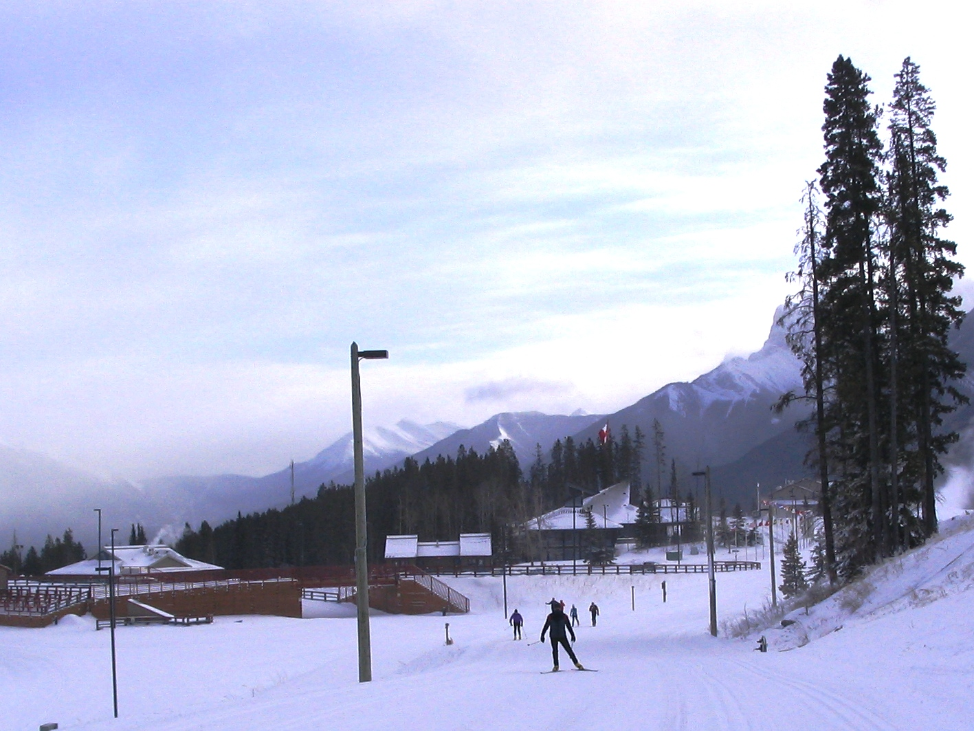 Skiers at Canmore Nordic Centre  Dec 13, 2008