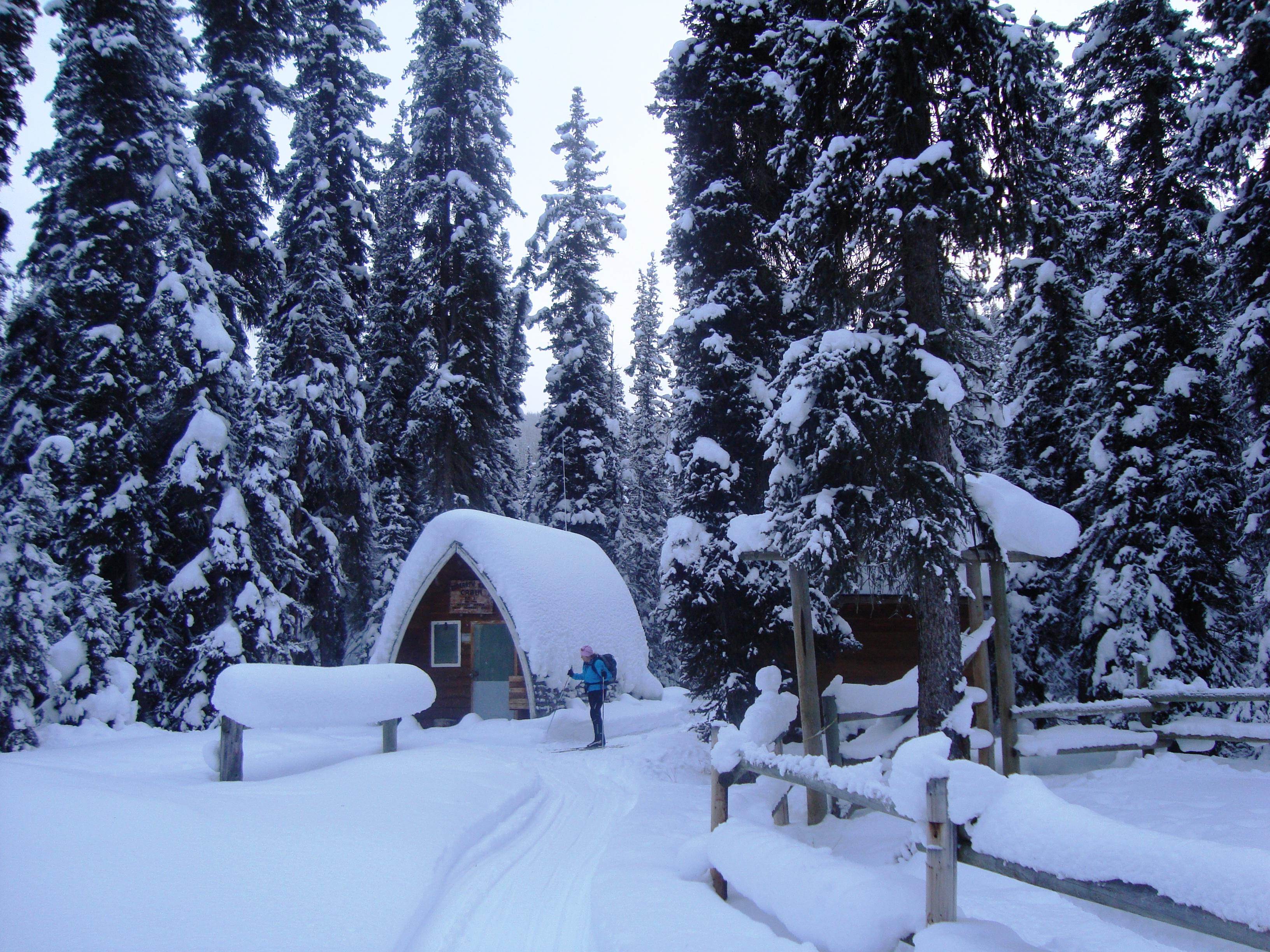Warden's cabin on Redearth Creek Jan 9, 2009