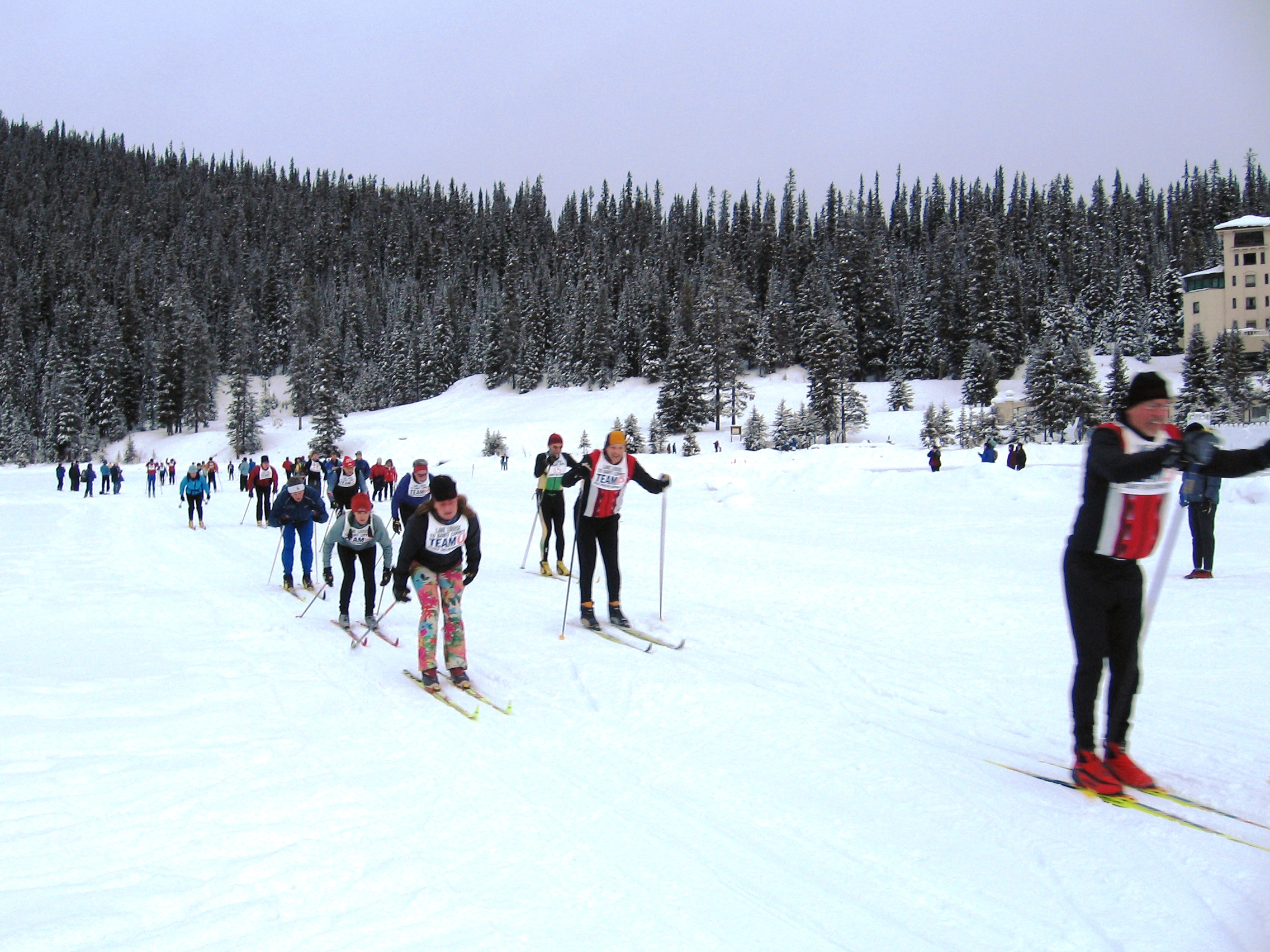 Racers on Lake Louise