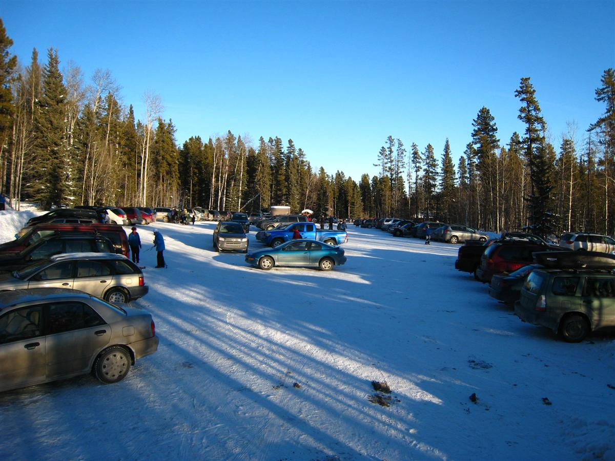 West Bragg Creek Parking Lot  Jan 4, 2008