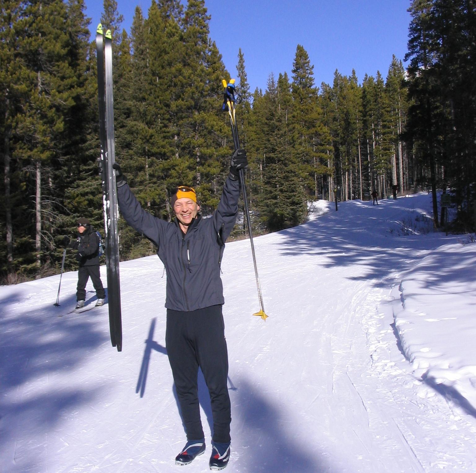 Bob celebrates 1000K on skis this winter