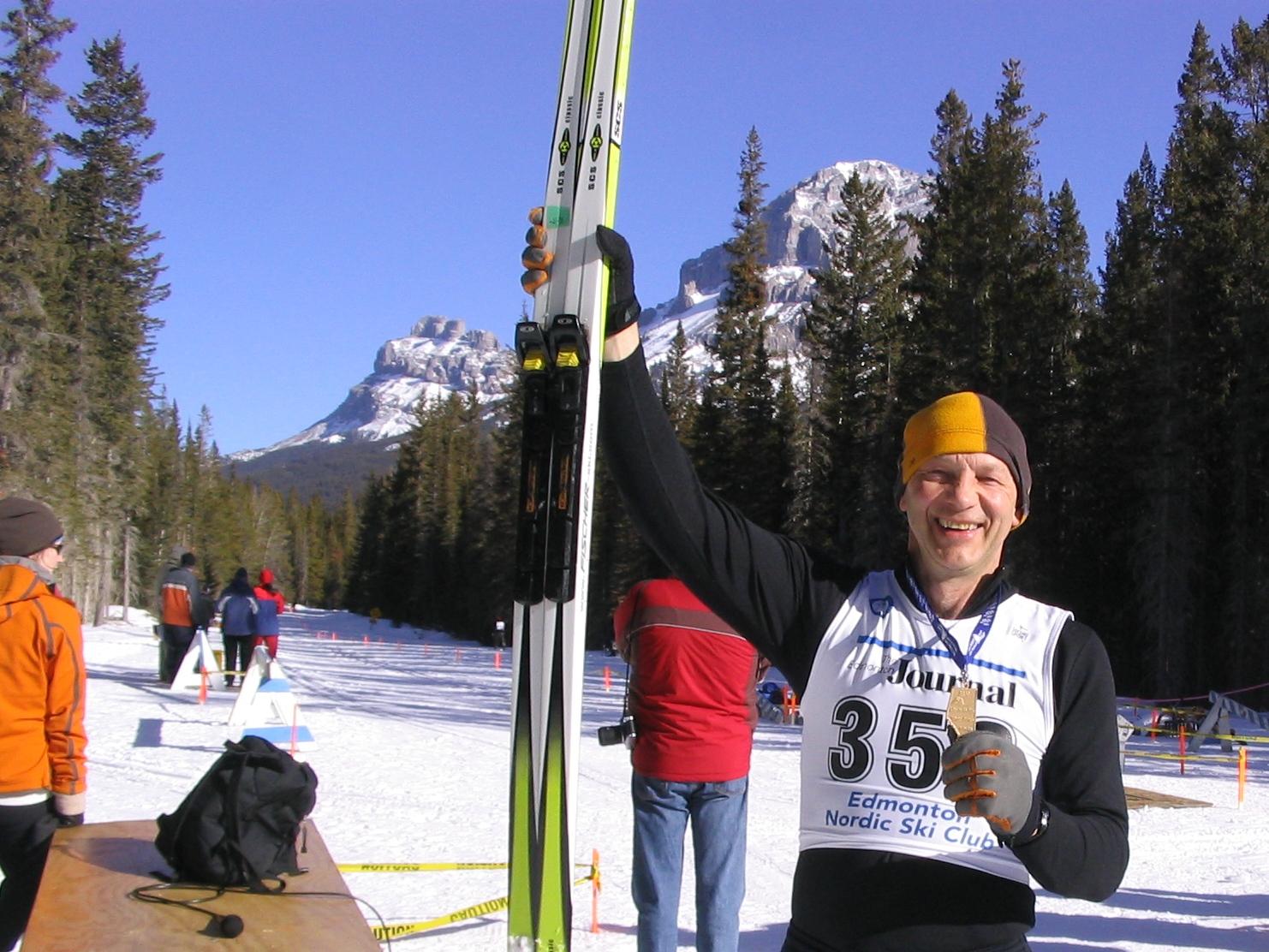 Bob strikes gold at Alberta 55+ Winter Games